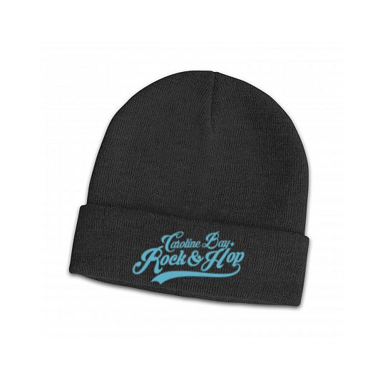 Black Edge Rolled Beanie